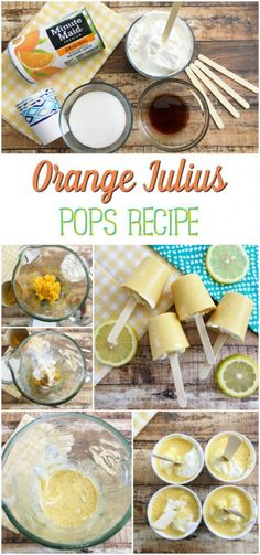 How to Make Orange Julius Pops