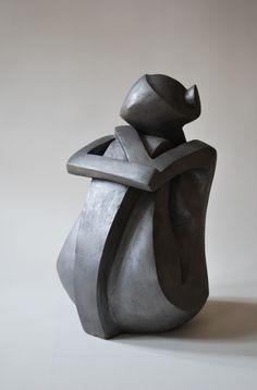 Artwork by Nyári Flóra - Girl, Sculpture Painted ceramic Artstack - art online Modern Art Sculpture, Sculpture Painting, Stone Sculpture, Sculpture Clay, Ceramic Painting, Abstract Sculpture, Ceramic Art, Candle Sculpture, Sculptures Céramiques