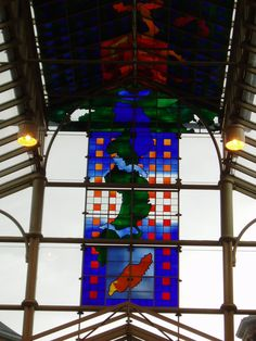 ** Brian Clarke's stunning stained glass canopy in the Victoria Quarter, Leeds