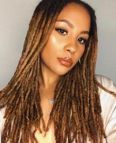 ➫ ❁ ❥ ❥ ᴘɪɴᴛʀᴇsᴛ @PrincessCequez- ❁ YouTube: @ IamCequez ❥ ❥ ❁* Dreads Styles, Curly Hair Styles, Natural Hair Styles, Beautiful Dreadlocks, Beautiful Braids, Dreadlock Hairstyles, Cool Hairstyles, Dreads Girl, Pinterest Hair