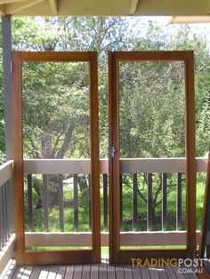 Cedar Flyscreen doors Stegbar brand - exactly what we need
