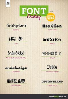 Font Friday #3 - Around the world