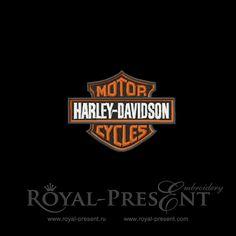 Free Machine Embroidery Design - Harley-Davidson, $0.00