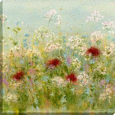 Buy Sue Fenlon - Summer Garden Print on Canvas, 90 x 90cm Online at johnlewis.com