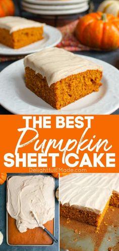 Pumpkin Cake Recipes, Sheet Cake Recipes, Pumpkin Bars, Pumpkin Dessert, Pumpkin Lasagna, Sheet Cakes, Pumpkin Delight Dessert Recipe, Pumpkin Spice, Cheese Pumpkin