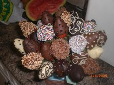 Chocolate dipped strawberry bouqet