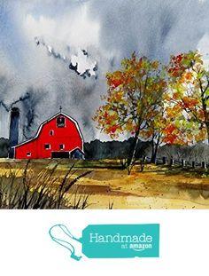 ORIGINAL painting Watercolor painting WATERCOLOR Painting, watercolor landscape, Pinetreeart, WATERCOLOR, landscape original, painting from Maine ARTist https://www.amazon.com/dp/B01IU5XXUA/ref=hnd_sw_r_pi_dp_BouKxb6SS2G1J #handmadeatamazon