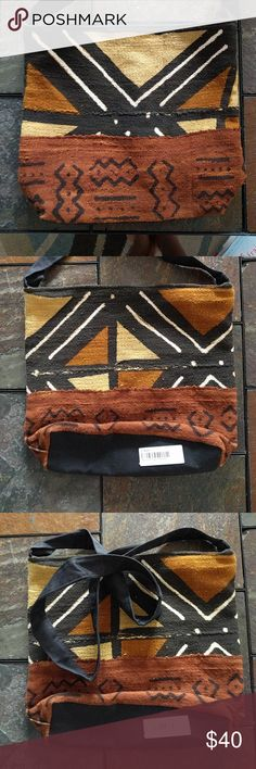 African Mudcloth Tote Bag Brand new made in the heart of Africa by community members when you buy this bag you help me help others and myself. Please share the love Bags Totes