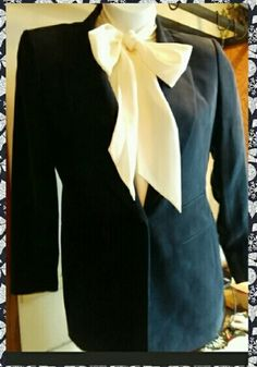 Dana Buchman Silk Blazer 100% Silk. Soft, Navy blue blazer. Traditional, timeless, and gorgeous. Lightly padded shoulder. Excellent condition. Size 8. Size 8 bow blouse included with purchase as a freebie. Dana Buchman Jackets & Coats Blazers