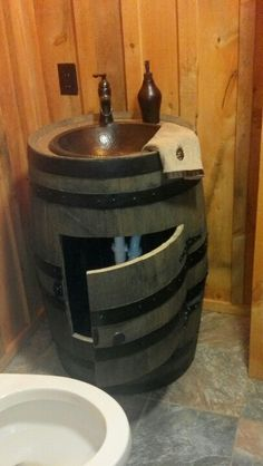 Whiskey Barrel Sink For The Home In 2019 Barrel Sink