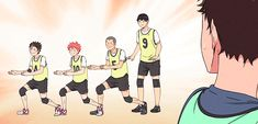Haikyuu dorks being dorks for meat. Kageyama what are you doing...
