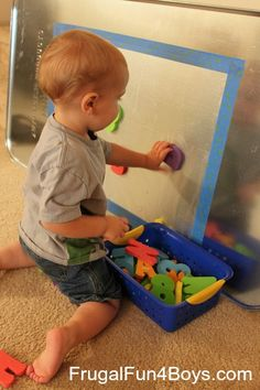 oil change pan from Walmart for magnetic letters!