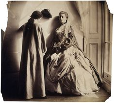 Photographic Study (Clementina and Isabella Grace Maude), 1863-64, by Clementina Hawarden