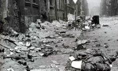 The bodies of German soldiers on Breslau Street