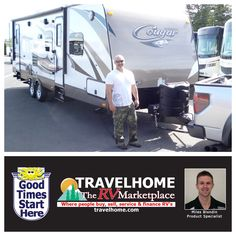 Congratulations to Sean on the purchase of his Cougar 28RBS #traveltrailer from Miles!  #CougarRV #keystoneRV #travel #Travelhome #camping #rving #vacation