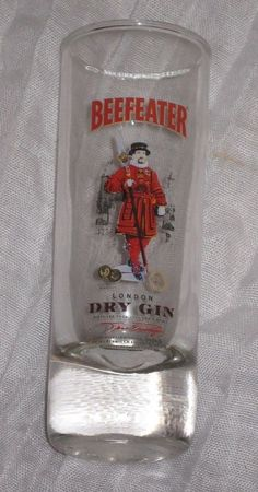"""Beefeater Dry Gin """"London"""" 4 Inch Shooter Shot Glass  #DH54"""