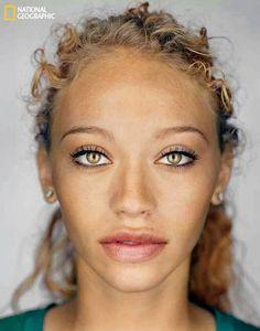Curls & beautiful eyes. #curls #ethnic #hazel #natural #hair #skin #black #European