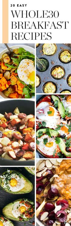 20 Easy Whole30 Breakfast Recipes to Start Your Day Right  #Whole30 #whole30recipes #whole30breakfast