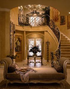 Perla's Own Home - mediterranean - Entry - Miami - Perla Lichi Design