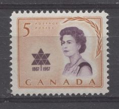 Commemorating the Queen's visit to Canada for Expo 67 in British Royal Family Members, Expo 67, King George, Orange And Purple, Mail Art, Stamp Collecting, Queen Elizabeth, Historical Photos, Postage Stamps