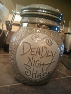 """""""Deadly Night Shade"""" candy jar from Nightmare Before Christmas."""