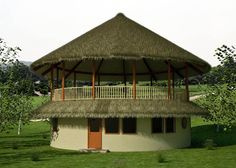 Round House Plans, Small House Plans, Bamboo House Design, Farm Layout, African House, Thatched House, Backyard Gazebo, Cafe House, Vernacular Architecture