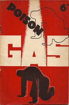 Poison Gas booklet, cover by Edward McKnight Kauffer, 1936 | by mikeyashworth