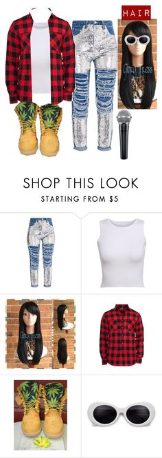 """""""90s: Aaliyah Vibe"""" by ashfordkeyonna ❤ liked on Polyvore featuring Timberland"""