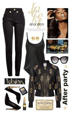 """AFTER PARTY"" by shortyluv718 ❤ liked on Polyvore featuring T By Alexander Wang, Balmain, Kate Spade, Dolce&Gabbana, WALL, Moschino, Fred Leighton, L'Oréal Paris and Sisley"