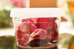 How to dry rose petals. My mom and I just did this with the 55 roses her boyfriend got her for her birthday.