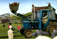 The tractor No farm can do without a tractor. This one is a bit old and troublesome though and the farmer wishes he had a sparkling new one in Troublesome Tractor. Timmy Time, Shaun The Sheep, Adult Cartoons, Dreamworks, Old And New, Tractors, Monster Trucks, Farmer, Party Ideas