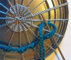 Transform can lids into holiday ornaments with circular weaving! You will need: metal can lids from food or frozen juice (food can lids should be removed with safety can opener so there are no shar…