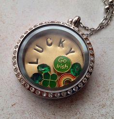 Memory Locket St Patrick's Day Lucky Charms by ShopStoneBridge01. , via Etsy.