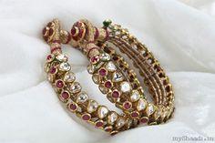 A big part of Bridal & Trousseau shopping is the Jewellery. Myshaadi spoke to Bridal Jewellery designer Preeti Jain who tells us how brides should about planning their bridal jewellery shopping Indian Wedding Jewelry, Bridal Jewelry, Kundan Bangles, Amrapali Jewellery, Kundan Set, Gold Bangles, Rajputi Jewellery, Gold Jewellery Design, India Jewelry
