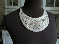 linen necklace Hilal Crescent  linen hit Lens, Chain, Jewelry, Fashion, Moda, Jewlery, Jewerly, Fashion Styles, Necklaces
