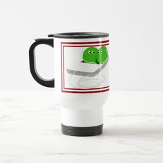 Two Cute Peas in a Pod Travel Mug by LovesMe_LovesMeNot #Gravityx9
