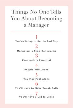 7 Things No One Tells You About Becoming a Manager. Managing people is time-consuming—and really hard. Servant Leadership, Leadership Qualities, Leadership Coaching, Leadership Development, Leadership Quotes, Leadership Activities, Life Coaching, Manager Quotes, Leader Quotes