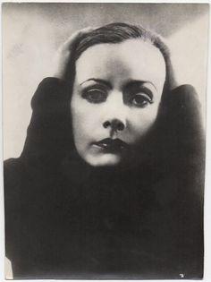 Edward Steichen VINTAGE ICONIC Greta Garbo RARE Double Weight Press Photo