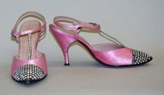 Adorable 1950's pink heels with a hint of sparkle....