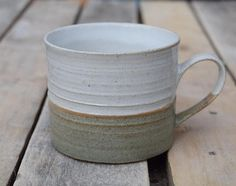 New Glazes and designs for 2018 from Tim Fenna on Etsy Fun Cup, Contemporary Ceramics, Green Stripes, Hot Chocolate, Stoneware, Glaze, Tea Cups, Mugs, Tableware