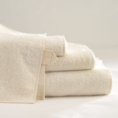 ANICHINI Vilnius Ivory Linen Terry Towels