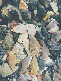 TITLE: Arrowheads DESCRIPTION: Native American Arrowheads.