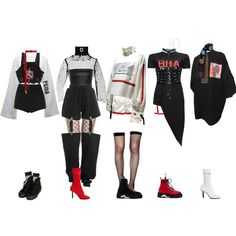 Find images and videos about fashion, kpop and outfits on We Heart It - the app to get lost in what you love. Kpop Fashion Outfits, Girls Fashion Clothes, Stage Outfits, Edgy Outfits, Retro Outfits, Dance Outfits, Cute Casual Outfits, Girl Outfits, Mode Kpop