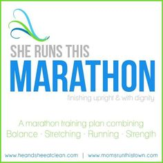 We hope you enjoy our FREE Beginners Marathon Training Calendar from He and  She Eat Clean and Moms RUN This Town. We decided to offer this free plan to  show you a taste of what you will get in our complete plan offered online!  Not training for a full marathon? Learn more about our Half Marath