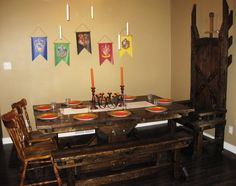Harry Potter party, the great hall!