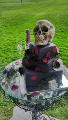Till Death Cake #square #wedding #cake