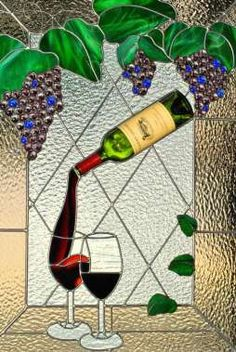 Wine bottle window from Delphi - I was thinking of something very like this!