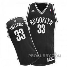 2c9ba3728 Mirza Teletovic Brooklyn Nets  33 Revolution 30 Swingman Road Black Jersey