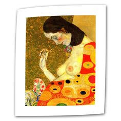 Hope, II by Gustav Klimt Painting Print on Canvas
