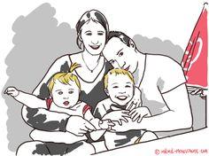 Le mercredi, Mémé Moustache vous propose un portrait de famille en vacances. Si vous souhaitez voir et recevoir votre photo de famille croquée, envoyez la à ecrire(a)meme-moustache.com accompagnée ...